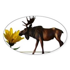 Flower Sniffin Moose Decal