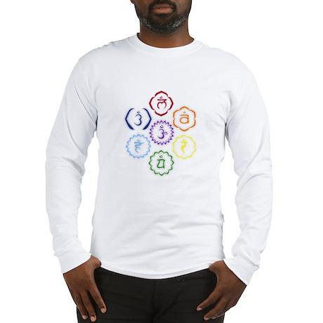 7 Chakras in a Circle Long Sleeve T-Shirt