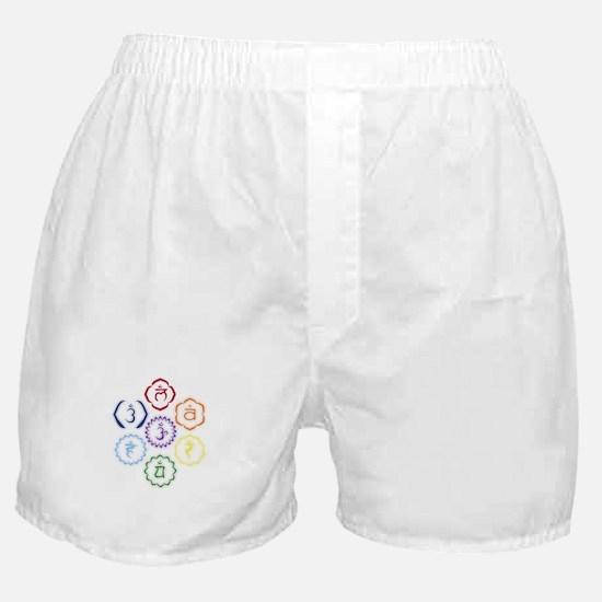 7 Chakras in a Circle Boxer Shorts