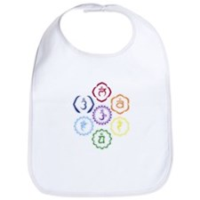 7 Chakras in a Circle Bib