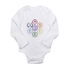 7 Chakras in a Circle Long Sleeve Infant Bodysuit