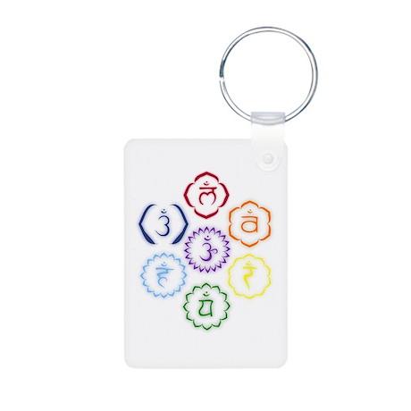 7 Chakras in a Circle Aluminum Photo Keychain