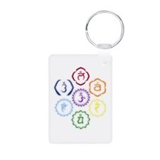 7 Chakras in a Circle Keychains