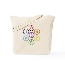7 Chakras in a Circle Tote Bag