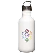 7 Chakras in a Circle Water Bottle