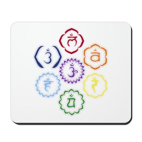 7 Chakras in a Circle Mousepad