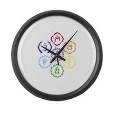 7 Chakras in a Circle Large Wall Clock