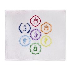 7 Chakras in a Circle Throw Blanket