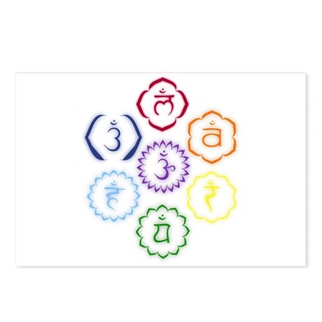 7 Chakras in a Circle Postcards (Package of 8)