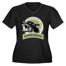 Cute Sports Women's Plus Size V-Neck Dark T-Shirt