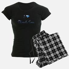 I Love Muscle Cars Blue Pajamas