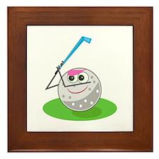 Golf Ball! Framed Tile