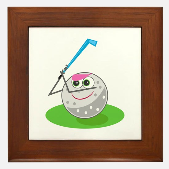 Golf Ball! Framed Tile