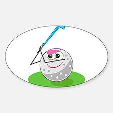 Golf Ball! Oval Decal