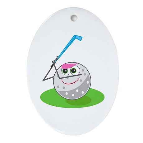 Golf Ball! Oval Ornament