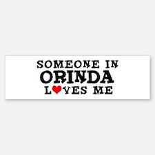 Orinda: Loves Me Bumper Bumper Bumper Sticker