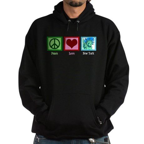 Peace Love New York Hoodie (dark)