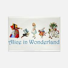 Alice In Wonderland Rectangle Magnet