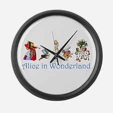 Alice In Wonderland Large Wall Clock