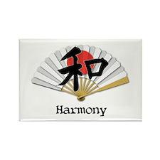 Harmony Geisha Fan Rectangle Magnet