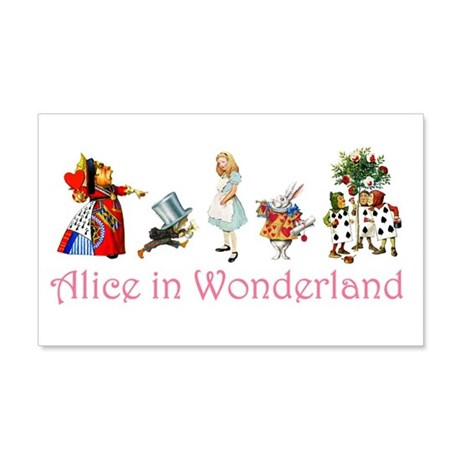 Alice in Wonderland 20x12 Wall Decal
