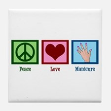 Peace Love Manicure Tile Coaster