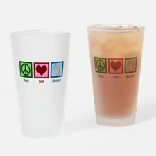 Peace Love Manicure Drinking Glass