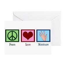 Peace Love Manicure Greeting Card