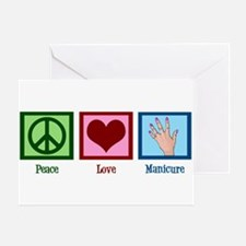 Peace Love Manicure Greeting Card