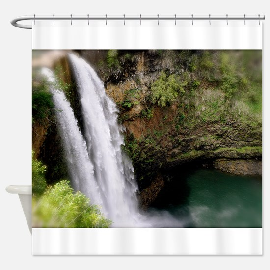 Wailua Falls, Kauai, Hi Shower Curtain