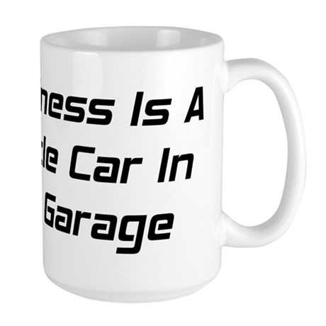Happiness Is A Muscle Car In The Garage Large Mug