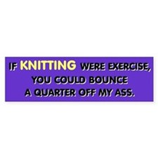 Knitting Bumper Car Sticker