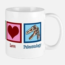 Peace Love Paleontology Mug