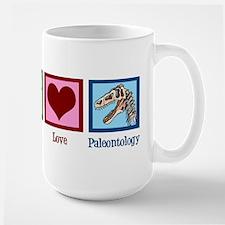 Peace Love Paleontology Large Mug