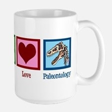 Peace Love Paleontology Mug