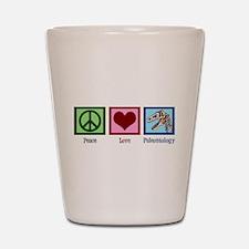 Peace Love Paleontology Shot Glass