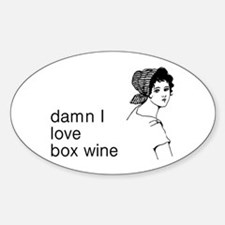Damn I Love Box Wine Decal