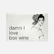 Damn I Love Box Wine Rectangle Magnet