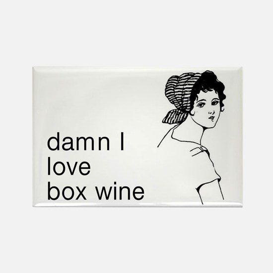 Damn I Love Box Wine Rectangle Magnet