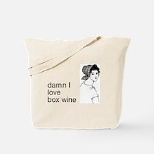 Damn I Love Box Wine Tote Bag