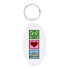 Peace Love Archaeology Keychains
