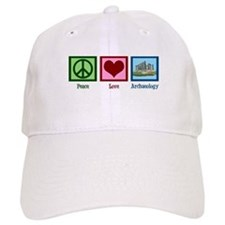 Peace Love Archaeology Baseball Cap
