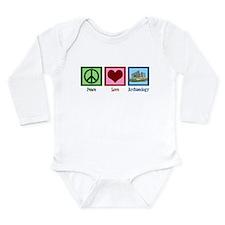 Peace Love Archaeology Long Sleeve Infant Bodysuit