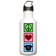 Peace Love Police Water Bottle