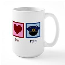 Peace Love Police Mug