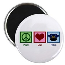 Peace Love Police Magnet