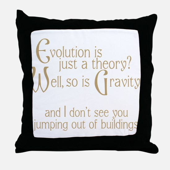 Evolutionary Theory Throw Pillow