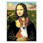 Mona Lisa - Basenji Small Poster