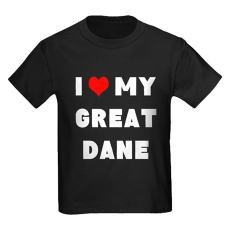luv my great dane Kids Dark T-Shirt