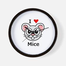 I Love Mice Wall Clock